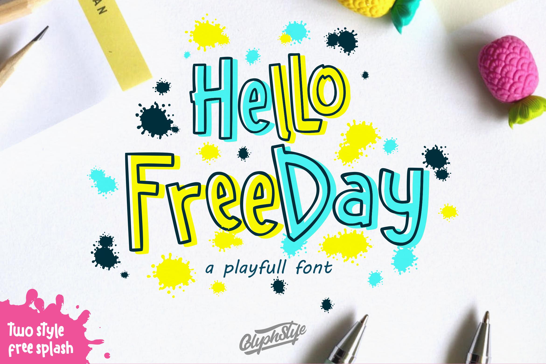 Hello freeday 2 Style font - free Easter Splash example image 1