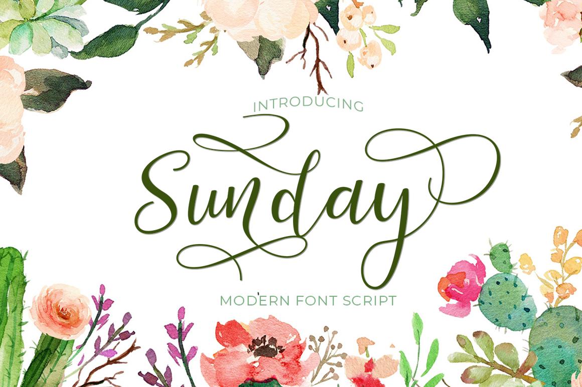 Sunday Script example image 1