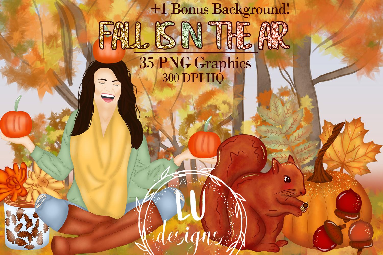 Fall Clipart, Autumn Graphics, Harvest Pumpkins Clipart example image 1