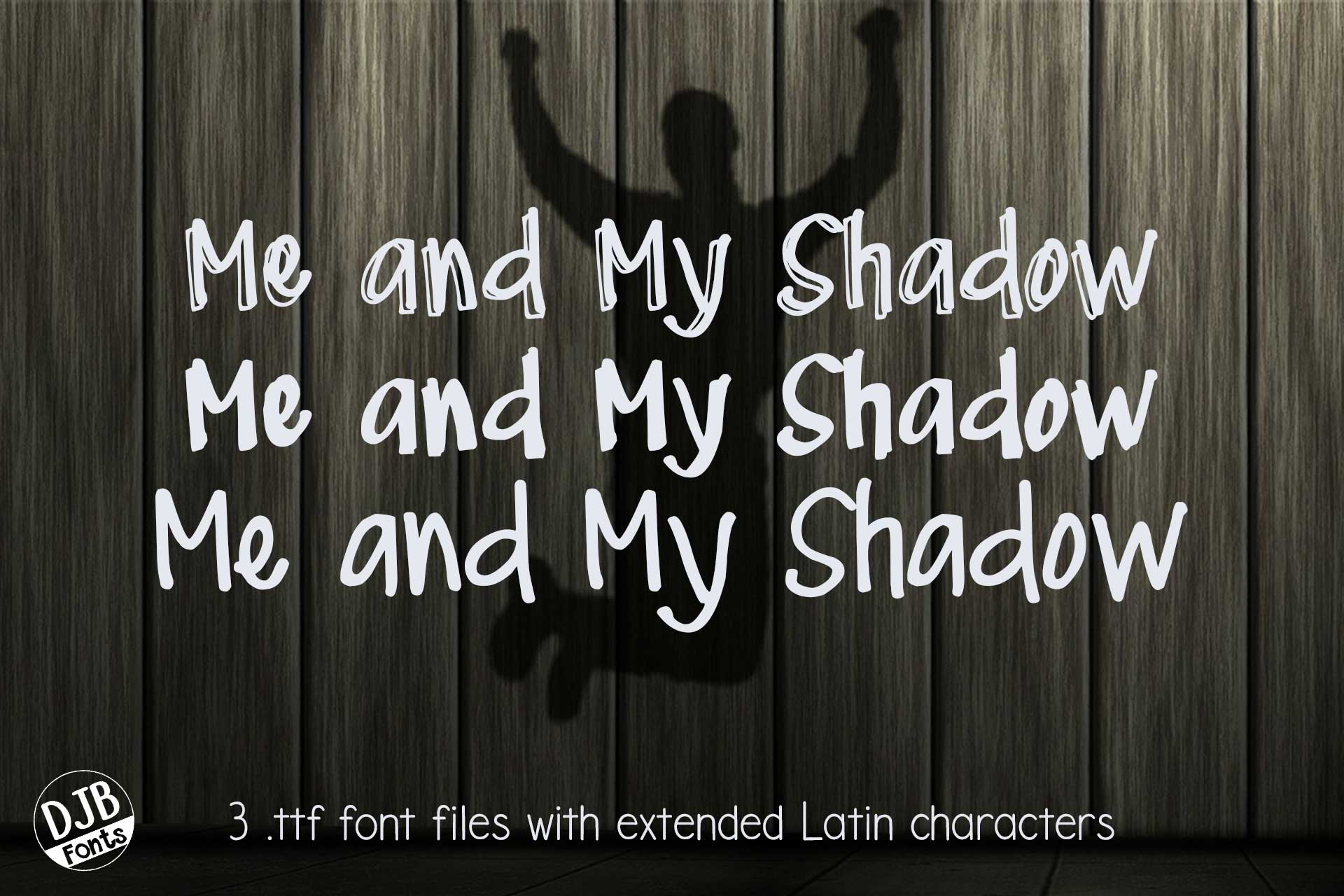 DJB Me and My Shadows Font Bundle example image 1