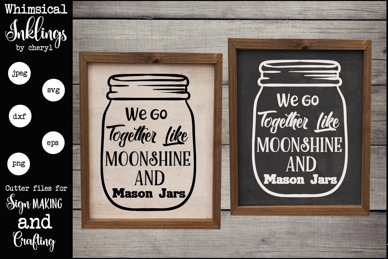 Moonshine and Mason Jars SVG example image 1