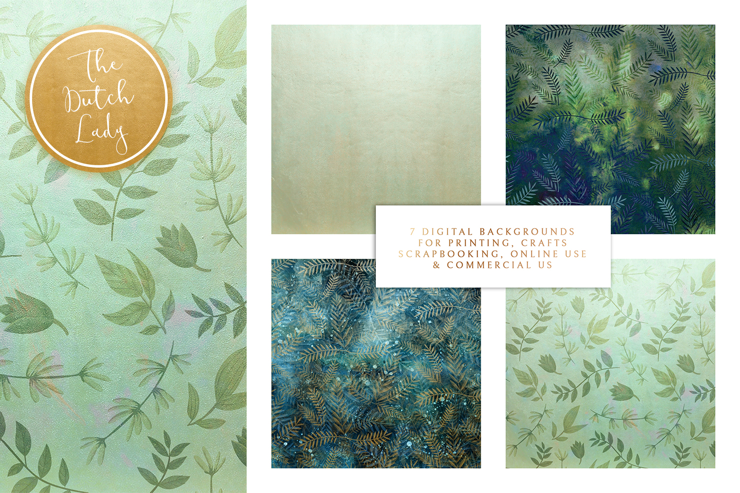 Floral Backgrounds & Paper Designs - Leonora example image 2