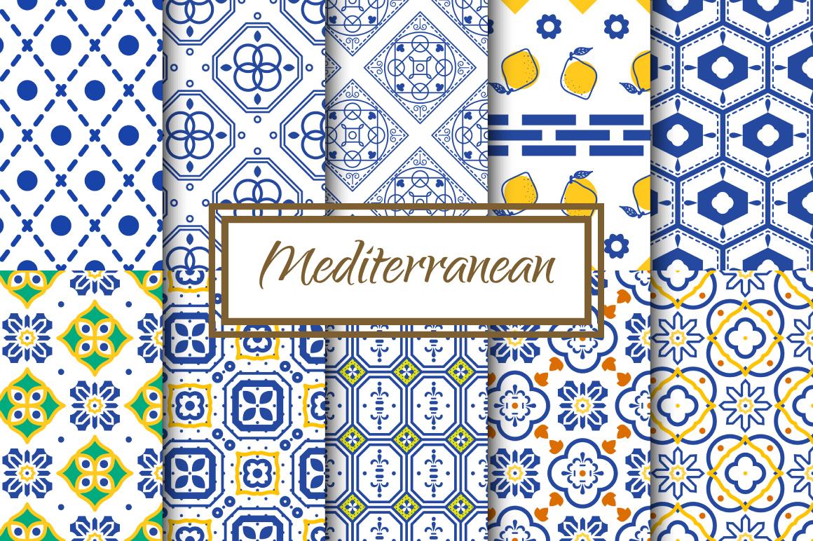 Mediterranean Seamless Patterns example image 1