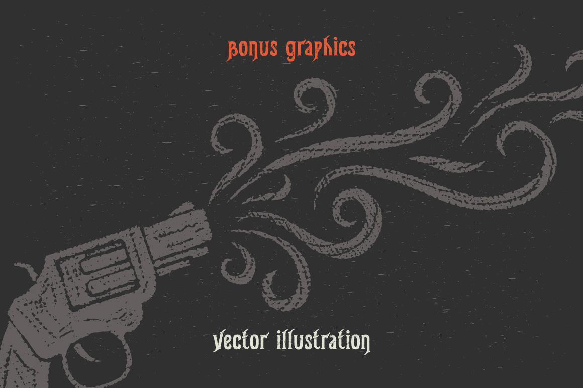 Gunshot typeface example image 3