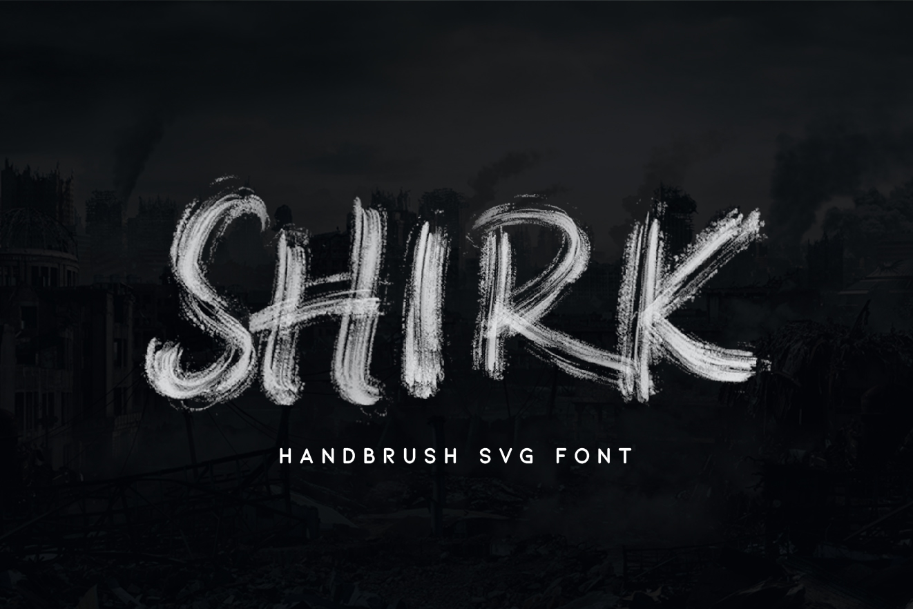 SHIRK - SVG FONT example image 1