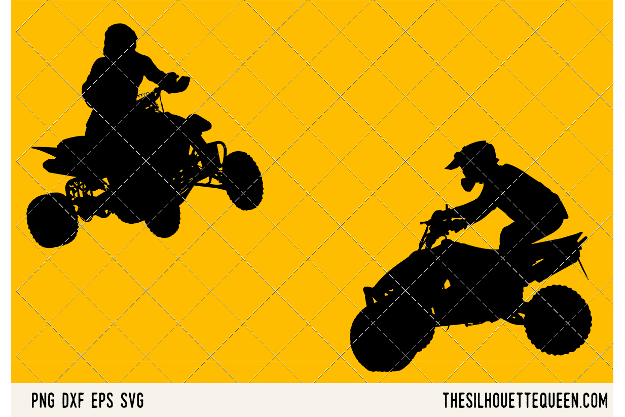 ATV Quad Motocross SVG example image 1
