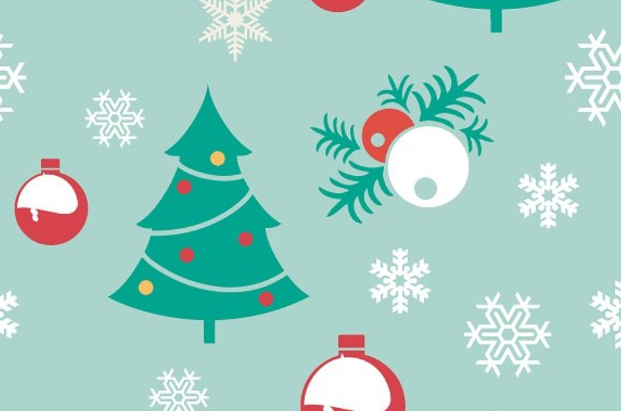 Scrapbooking Christmas seamless pattern example image 5