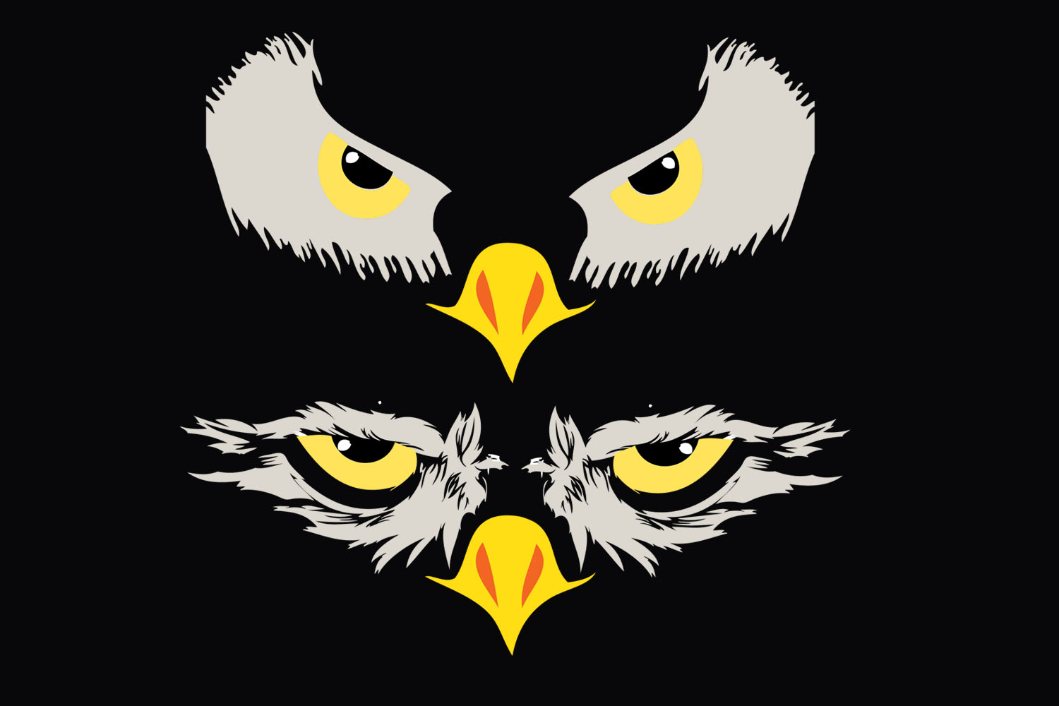 Football,SVG,Eagles,Eye,Logo,vector,Cricut,Silhouette,Sport example image 1