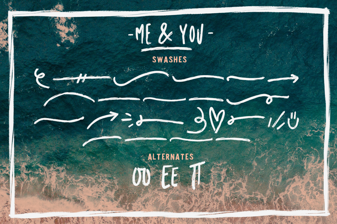 Me & you - dry marker font and extras! example image 3