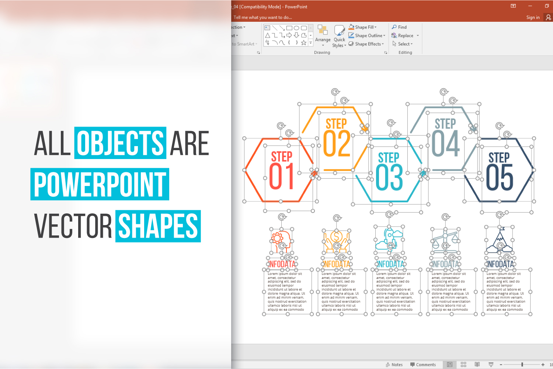 Minimal infographic PPT presentation example image 2