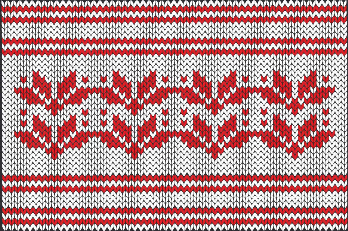 Christmas wool snowflakes pattern example image 2