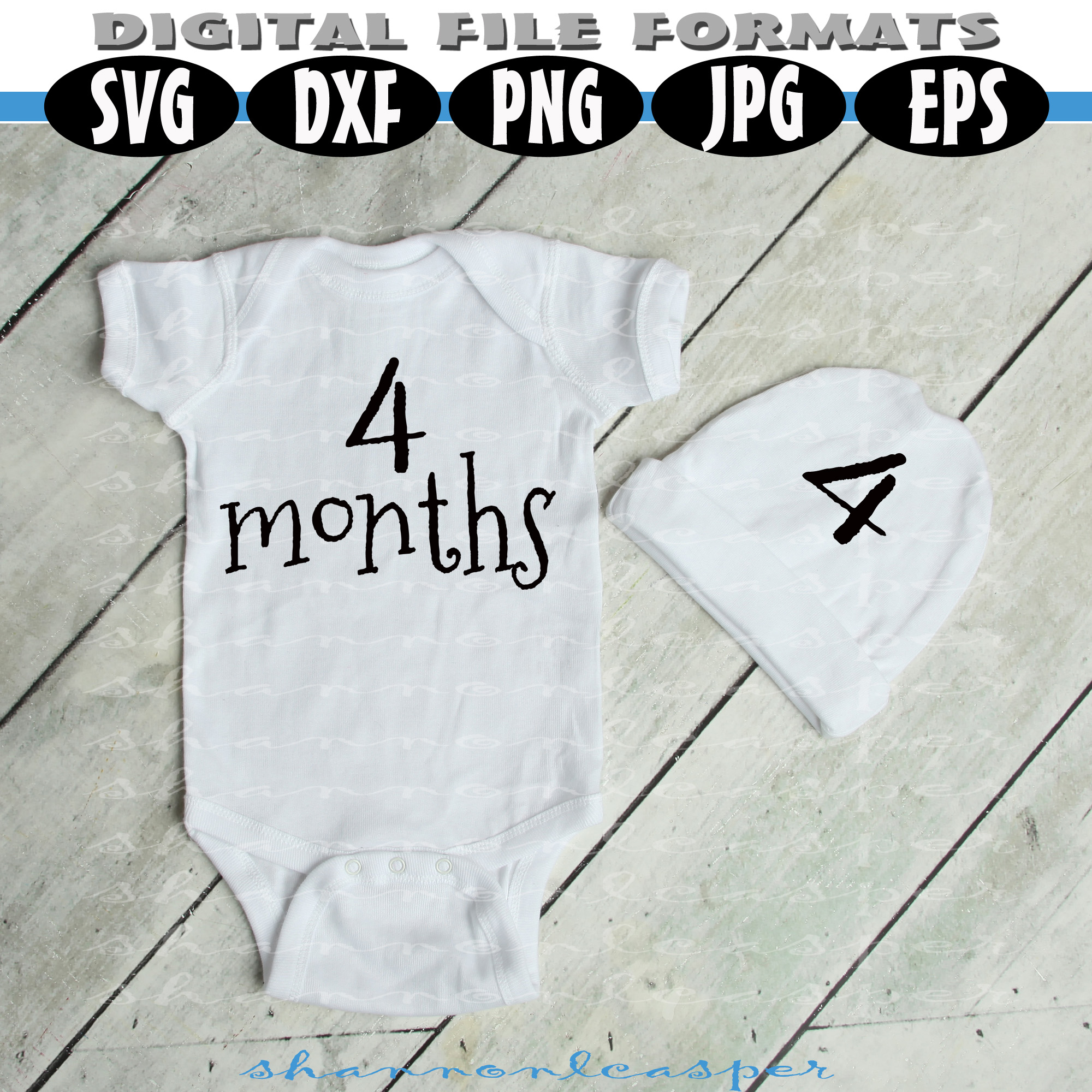 Baby Shirt Months 1-12 for Growing Pictures example image 2