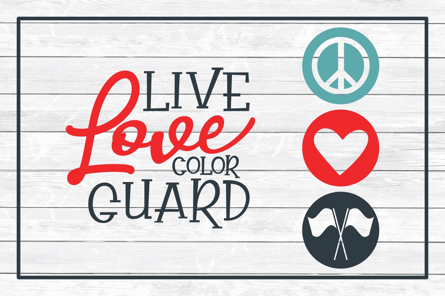 Color Guard SVG Design Bundle, Cut Files for Crafters example image 7