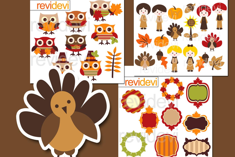 Thanksgiving Celebration Bundle Graphics example image 1
