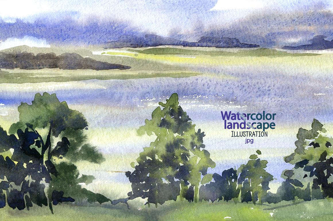 Watercolor landscape example image 1