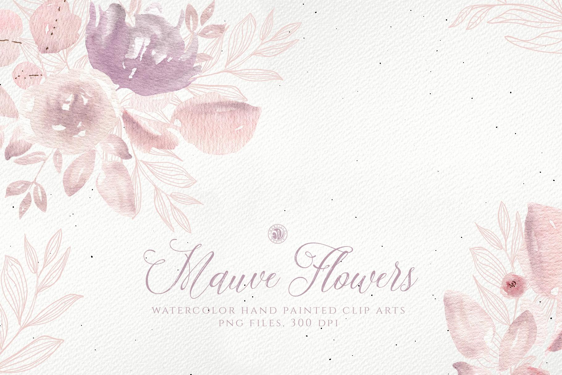 Mauve Flowers example image 1