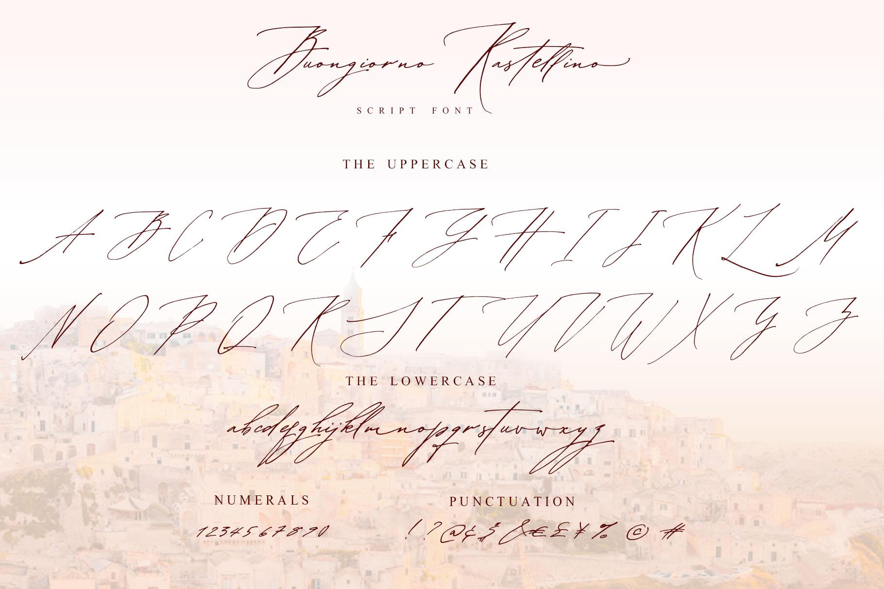 Buongiorno Rastellino script font example image 12