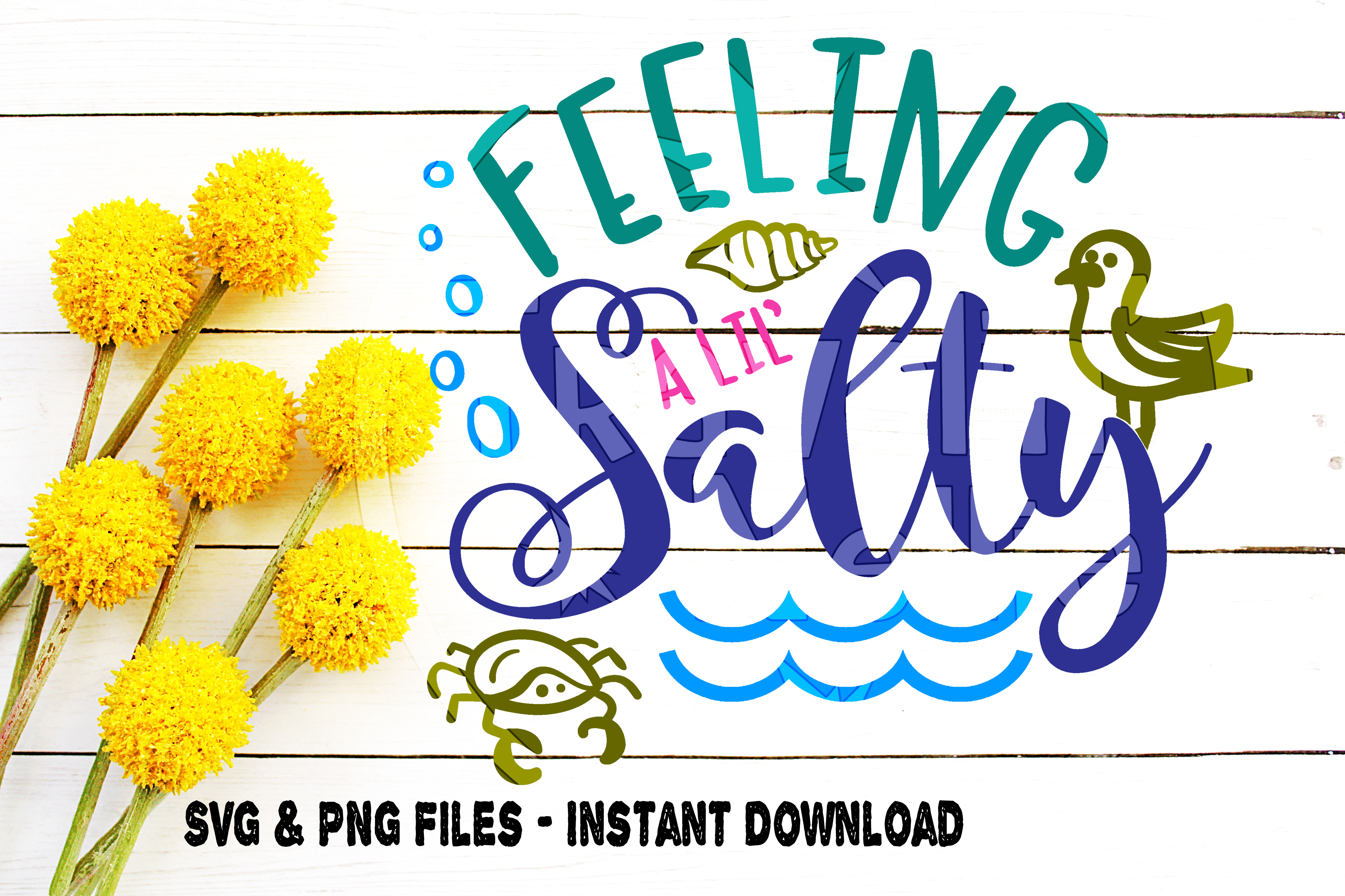 SVG Beach Bundle, 4, Beach Moods svg, Emotions svg, Feeling Nauti svg, Feeling Beachy svg, Feeling Jelly svg, Feeling Salty svg, Cut File example image 2