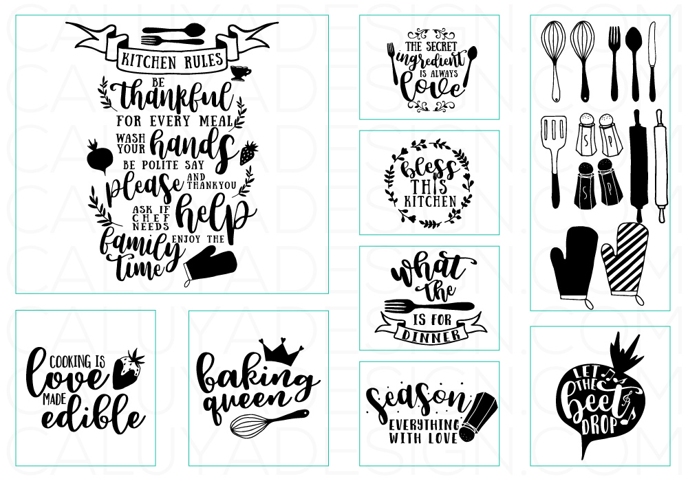 Happy Kitchen SVG Cut File Bundle example image 3
