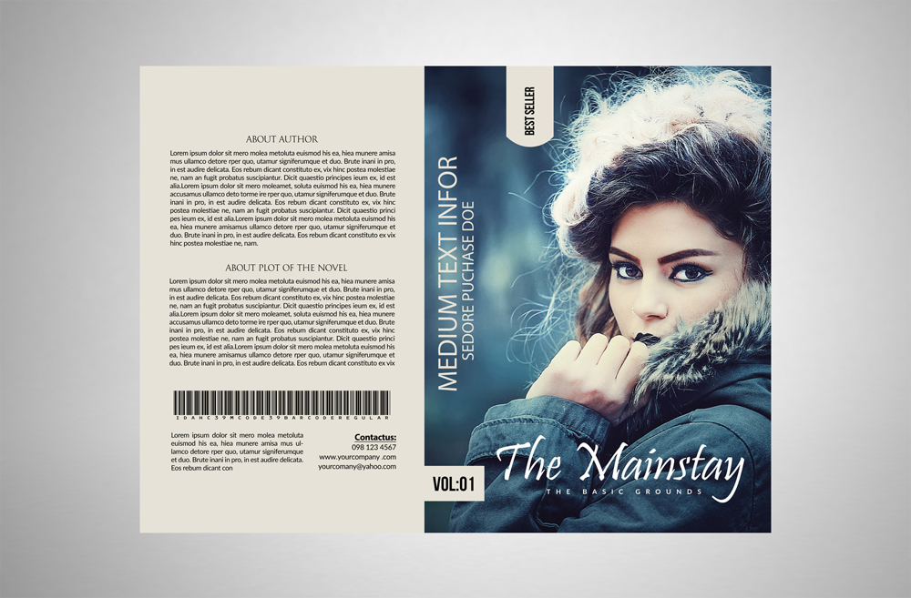 Novel Book Cover Template example image 3