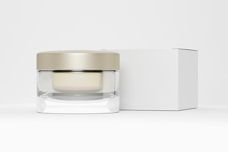 Cosmetic jar with cardboard box example image 2