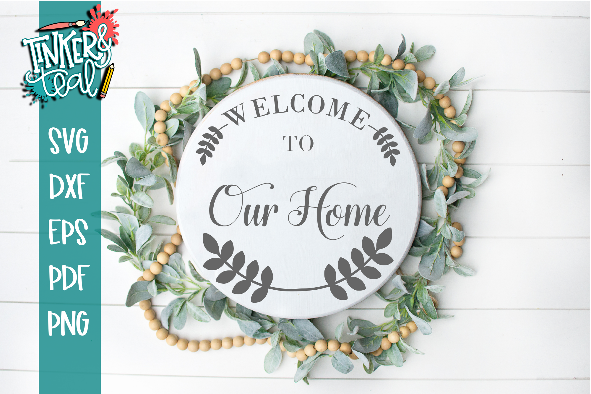 Farmhouse Welcome To Our Home Laurel SVG example image 1