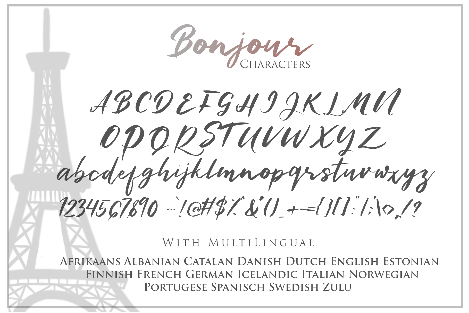 Bonjour - Casual Handwritten Font example image 7