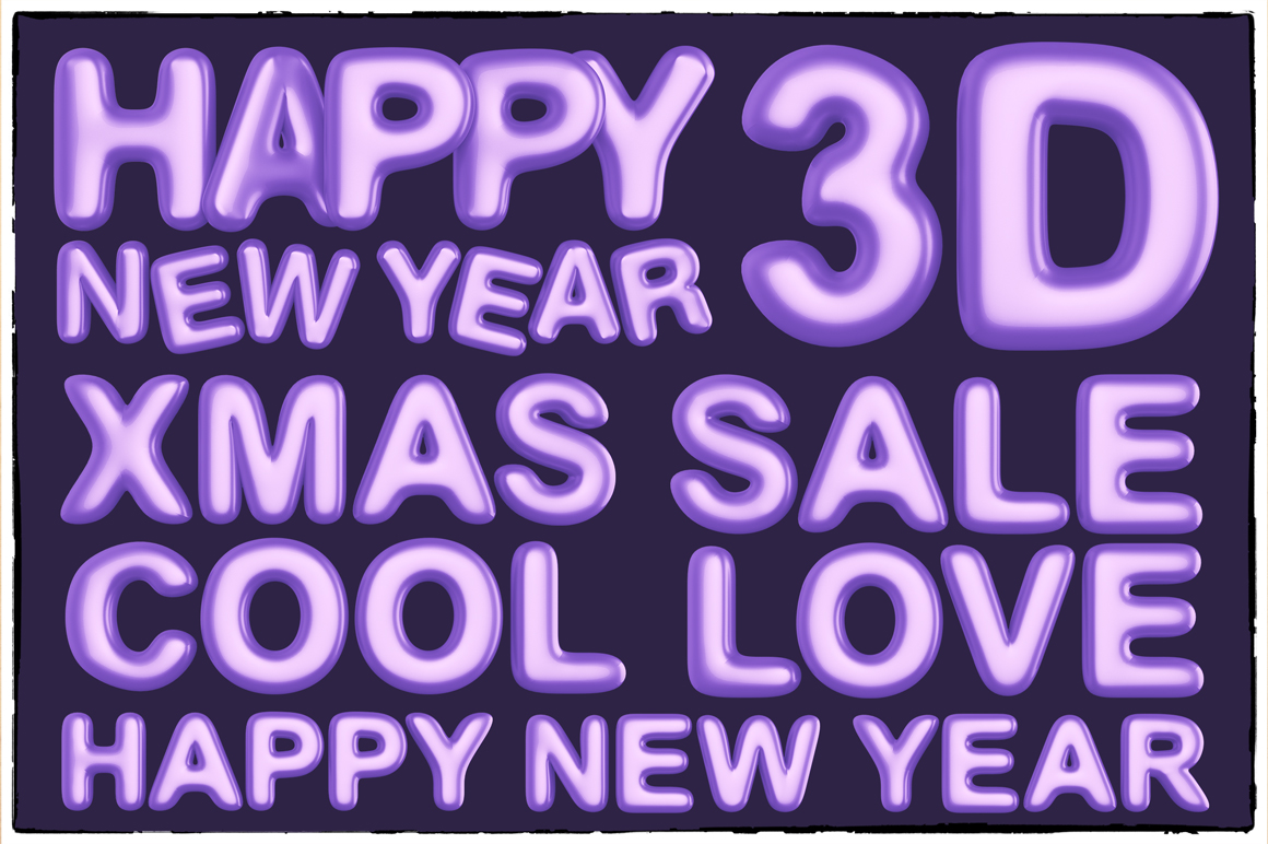 New Year 3D PNG Items Pack example image 20