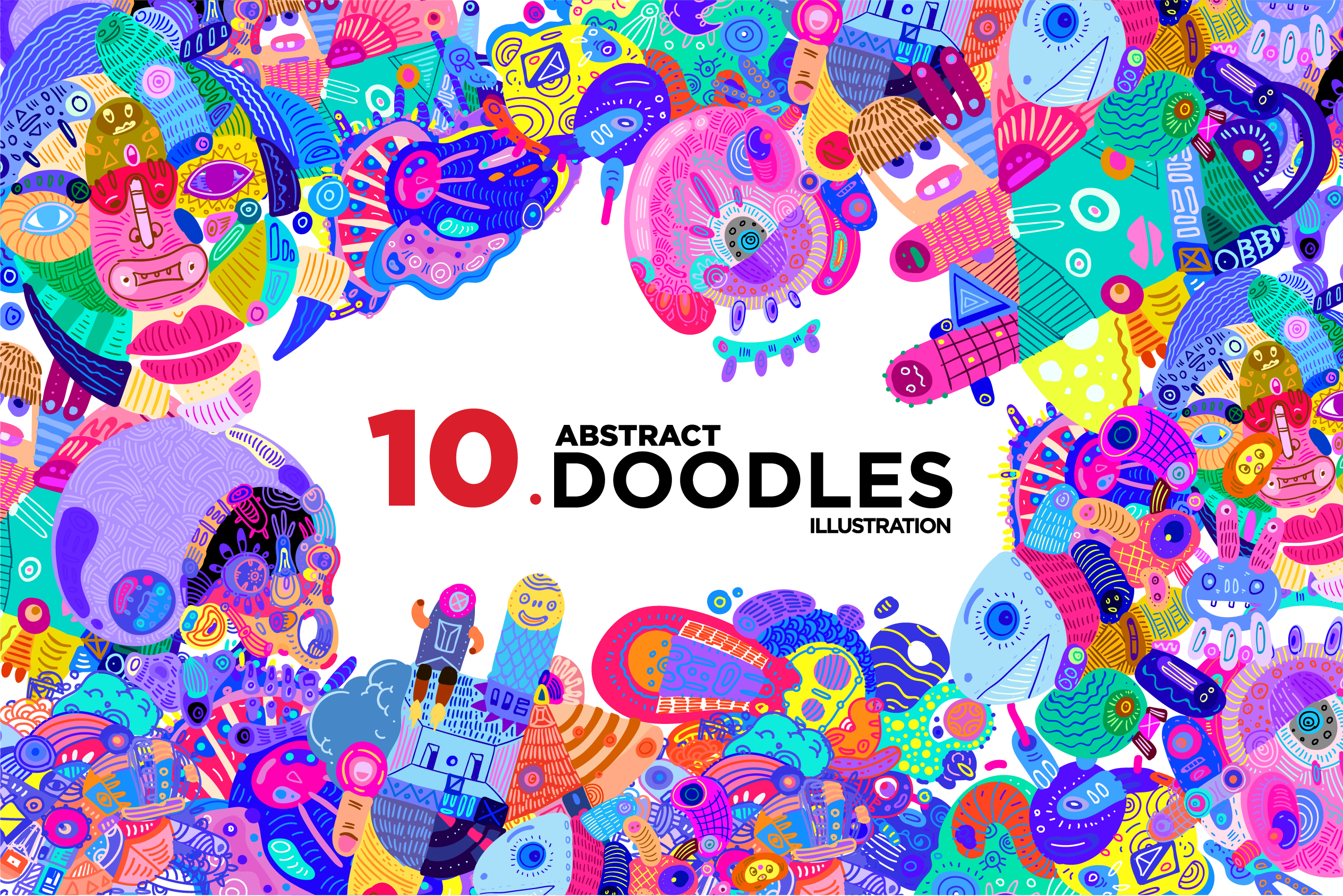 10 Abstract Doodle Illustrations example image 1