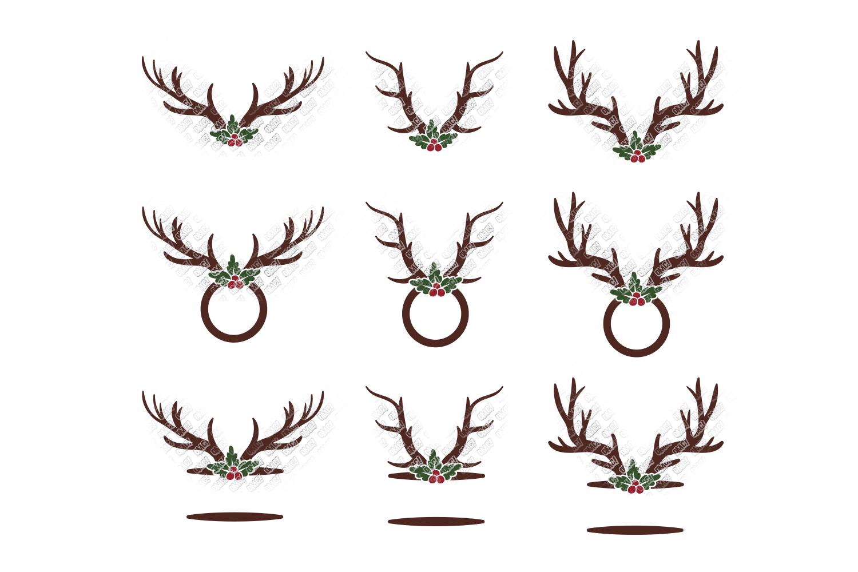 Reindeer SVG Bundle Antlers in SVG, DXF, PNG, EPS, JPEG example image 7