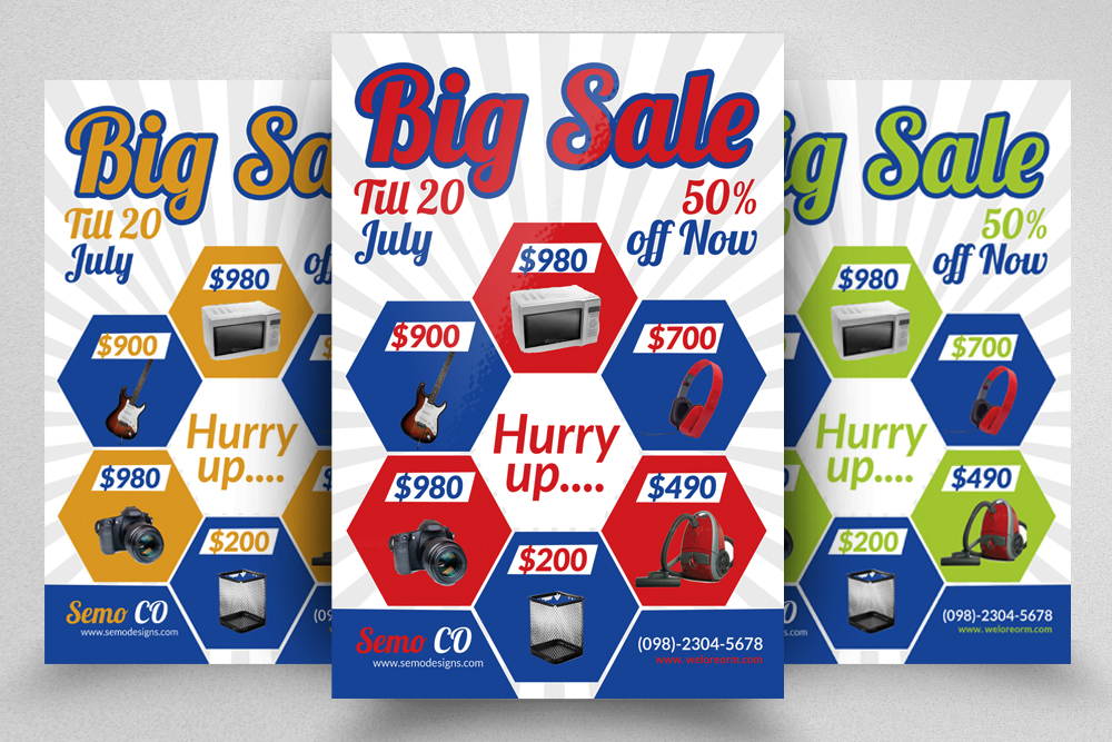 6 Big Sale Offer Flyers Bundle example image 5