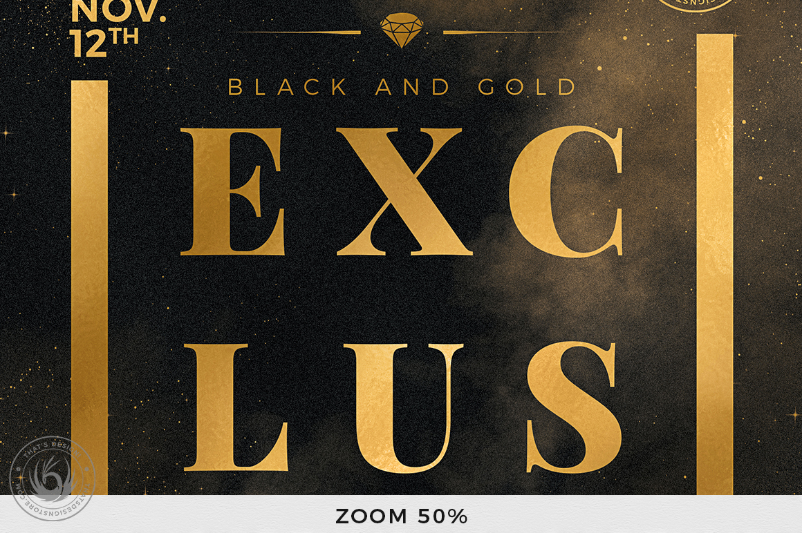 Black and Gold Flyer Template V14 example image 7