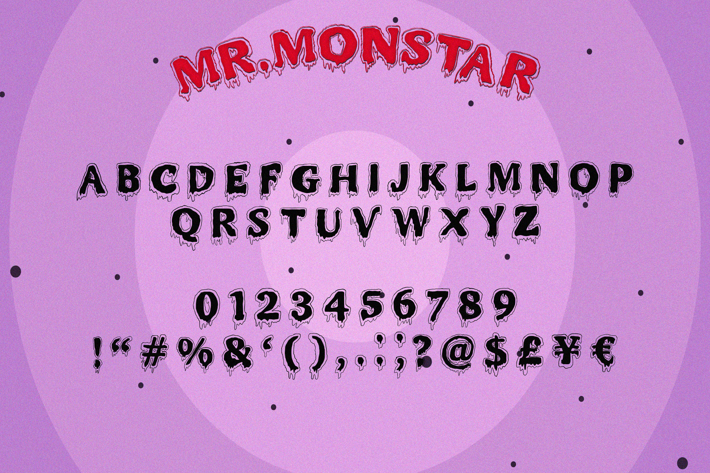 MR.MONSTAR Duo Font & Extras example image 7