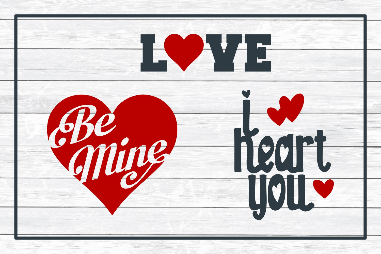 Love Design Bundle - Valentine SVG Cut Files example image 3