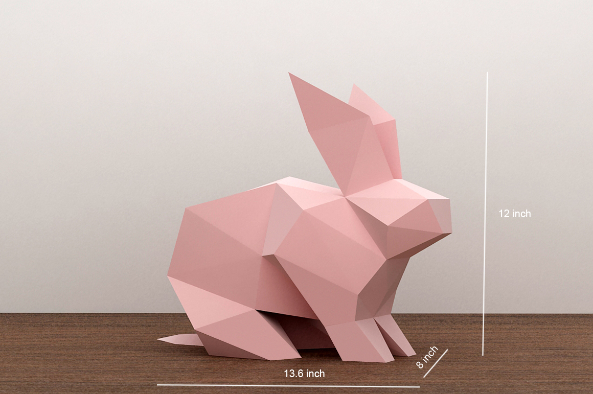 DIY Paper Rabbit - 3d papercraft example image 4