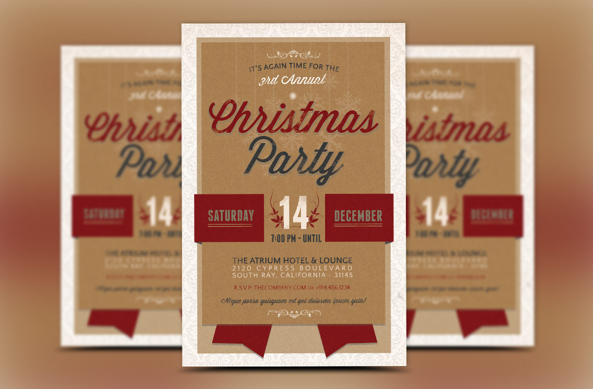Christmas Party Invitation Template example image 1
