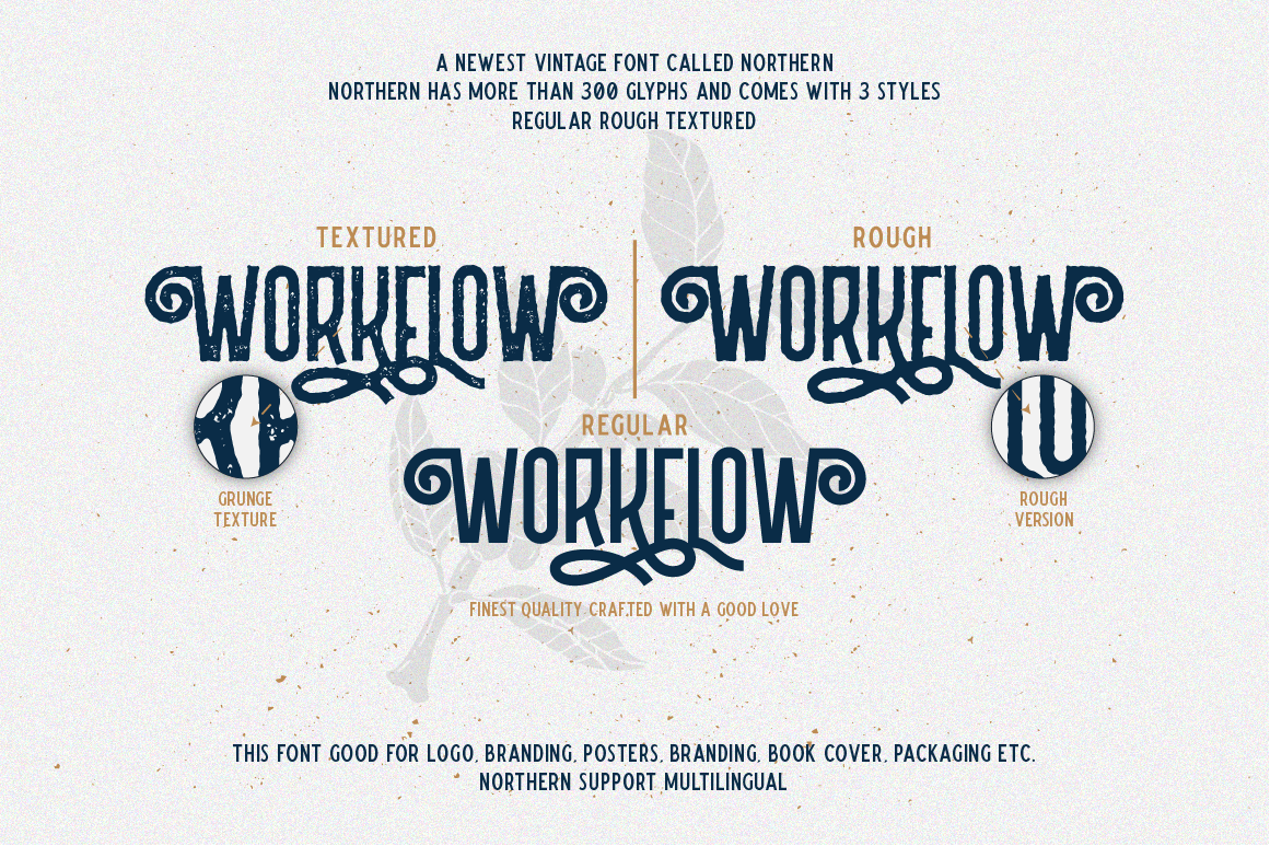 Northern 5 Fonts with Extras example image 2