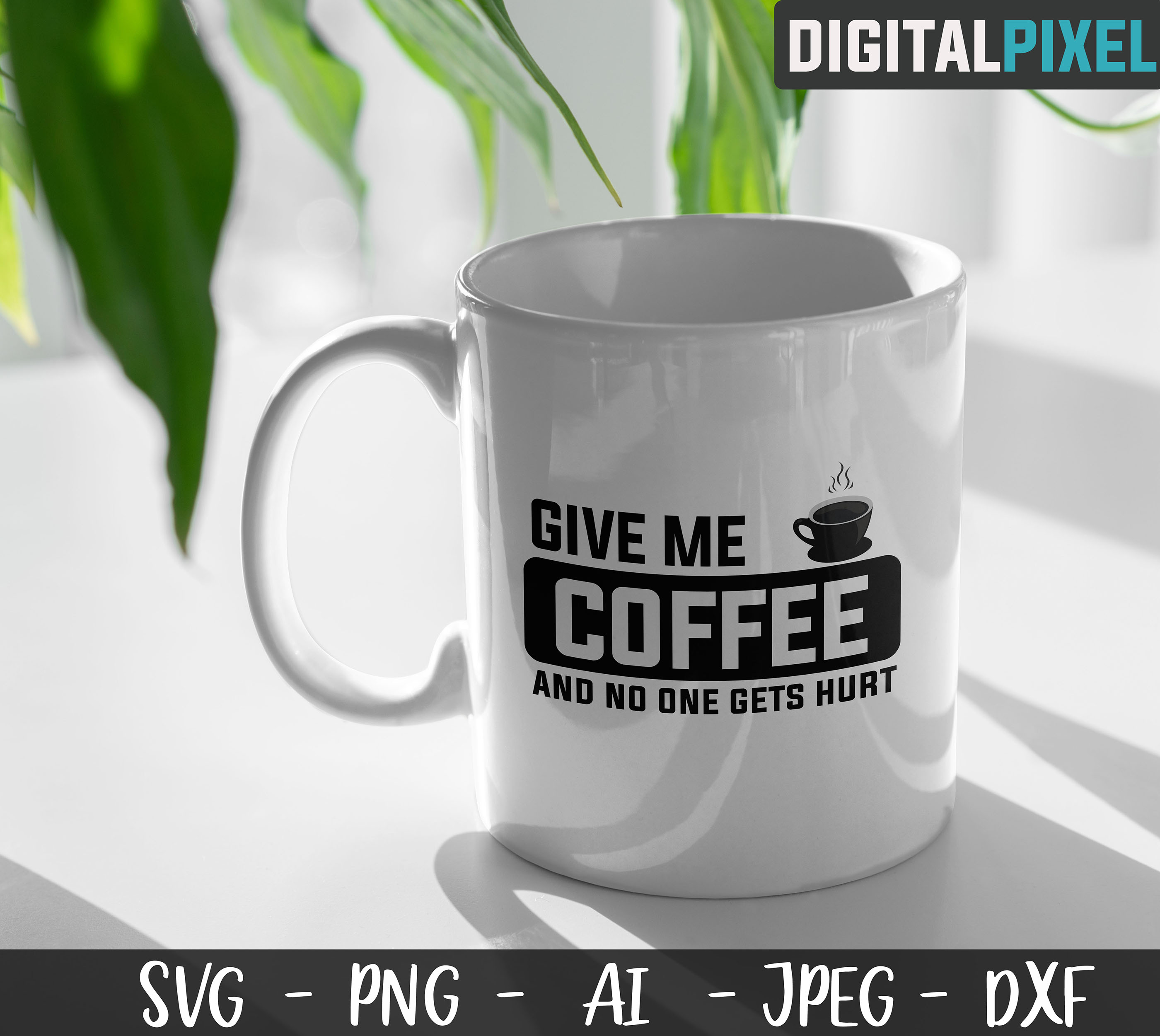 Coffee Bundle SVG PNG JPEG DXF Circut Cut Coffee Crafters example image 2