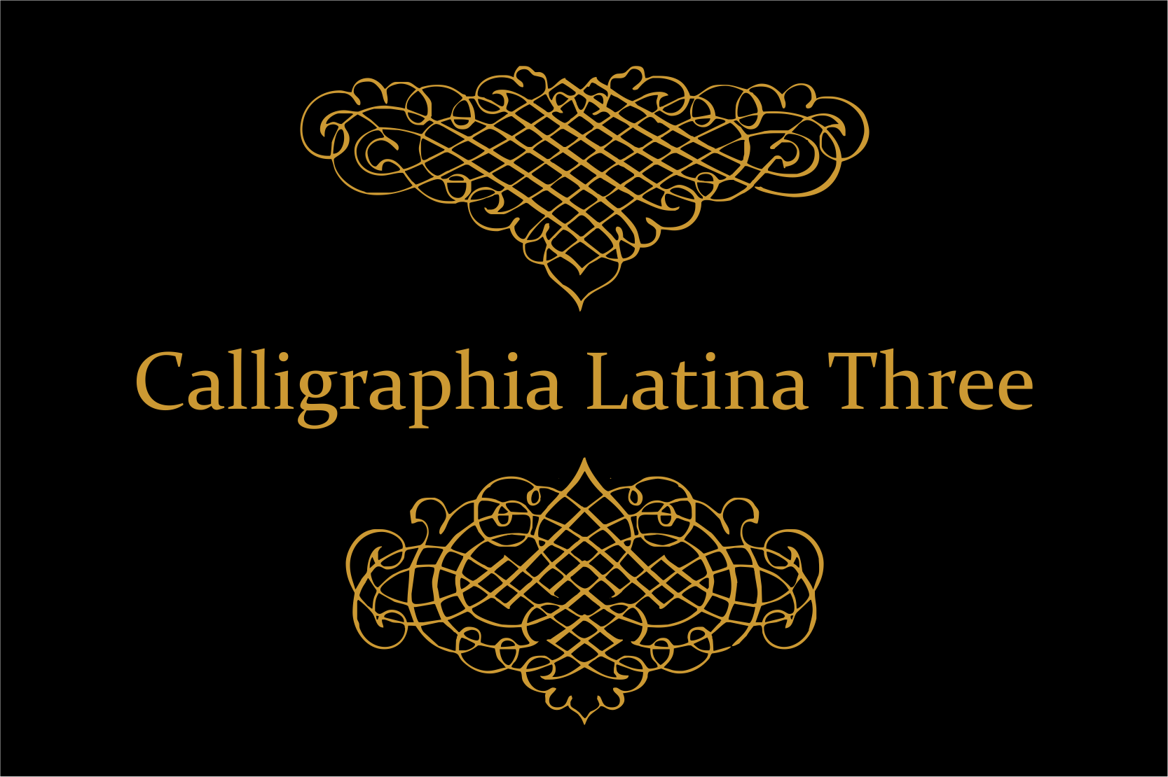 Calligraphia Latina Three example image 3