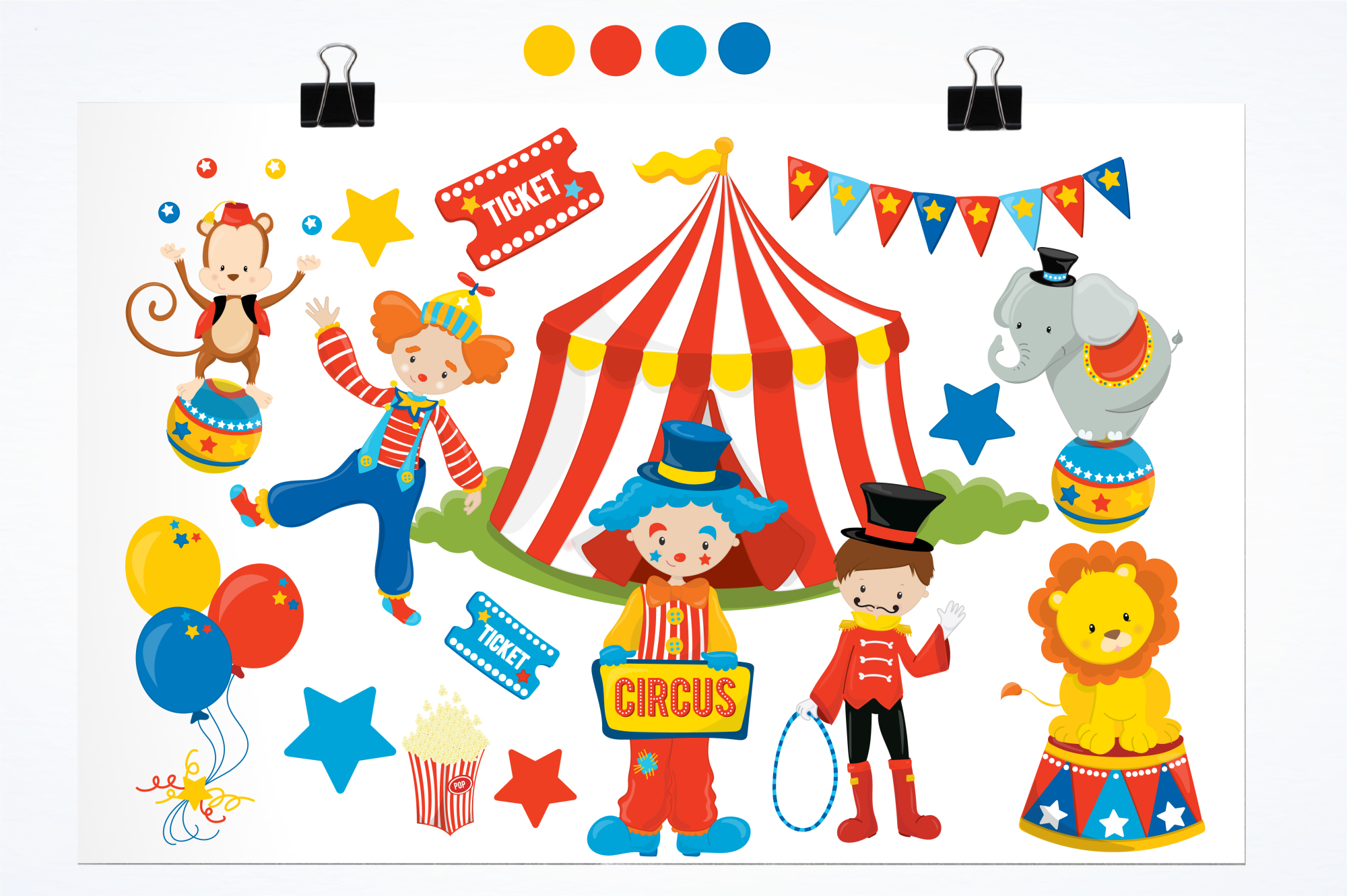 Circus Fun graphics and illustrations example image 2