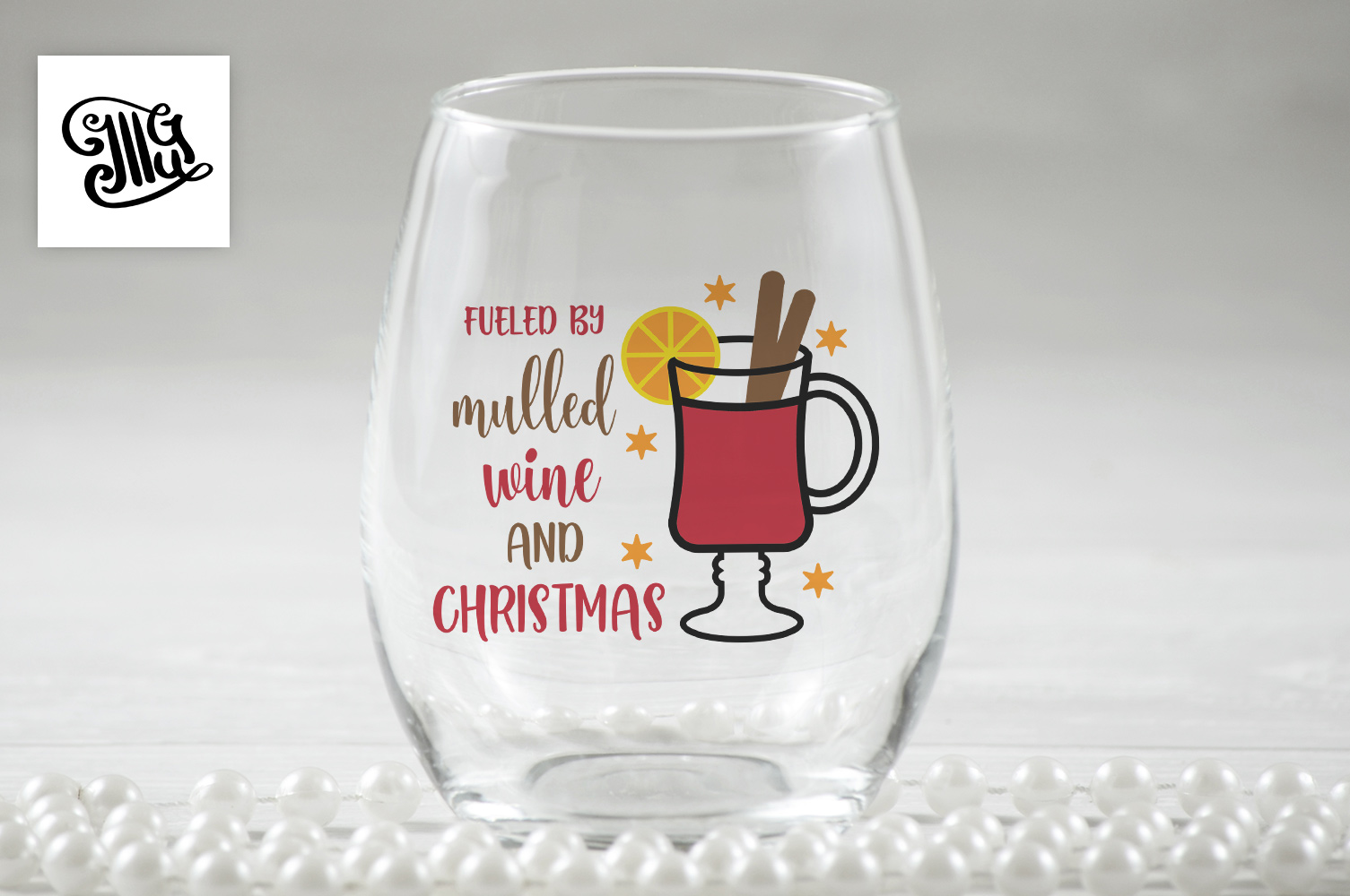 Christmas wine svg bundle example image 7