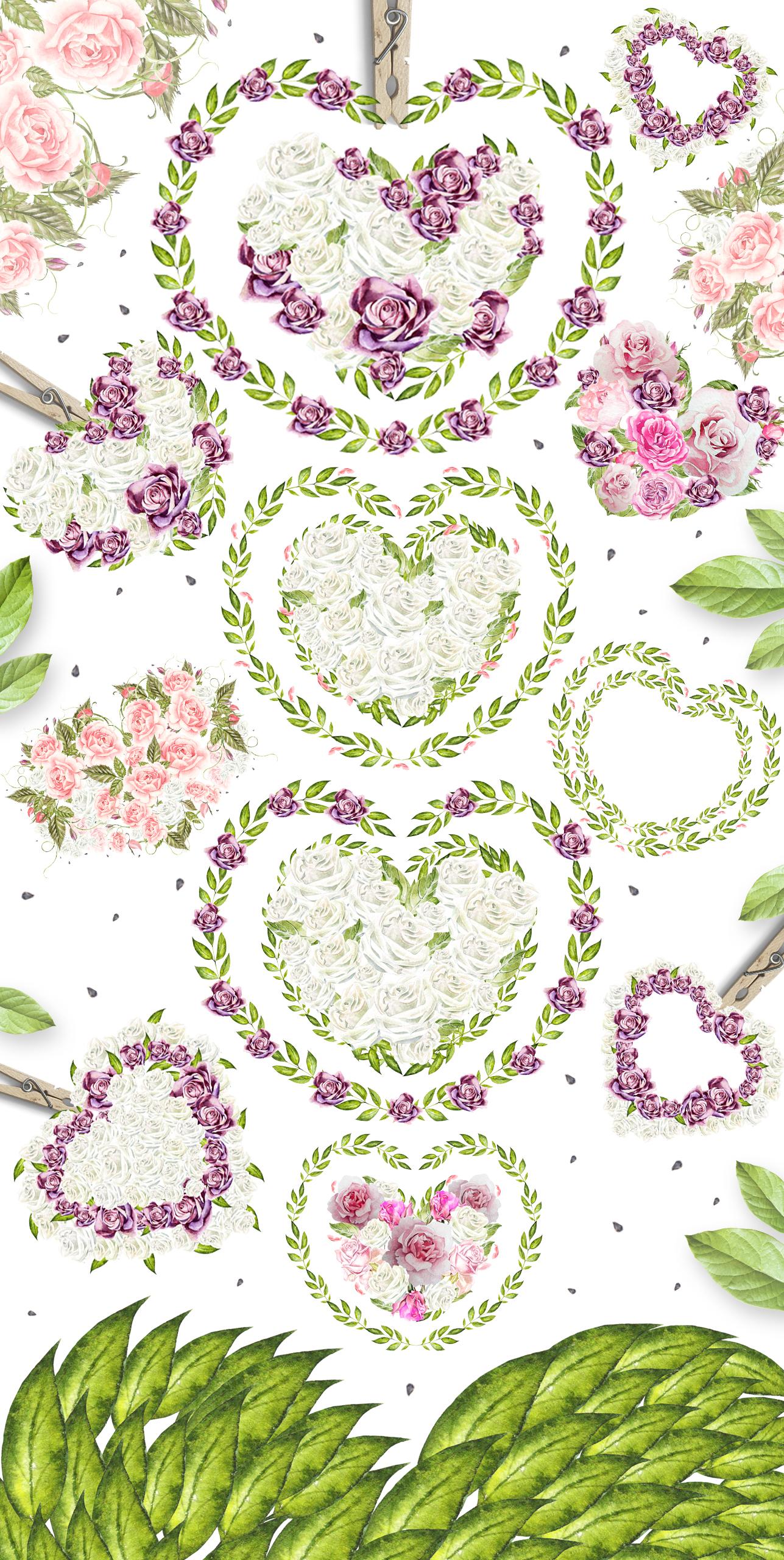 29 watercolor hearts example image 3