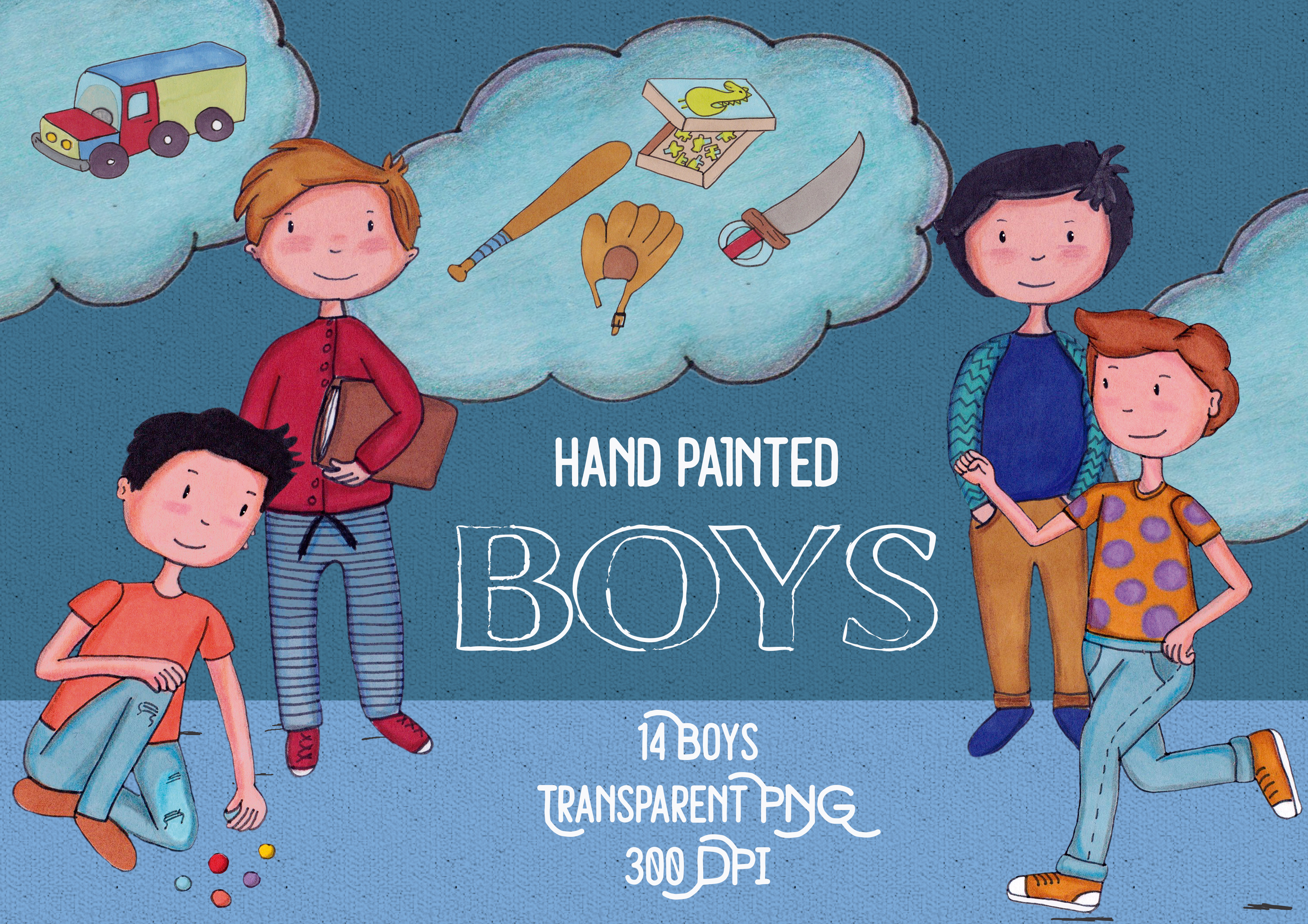 Boys hand painted example image 2