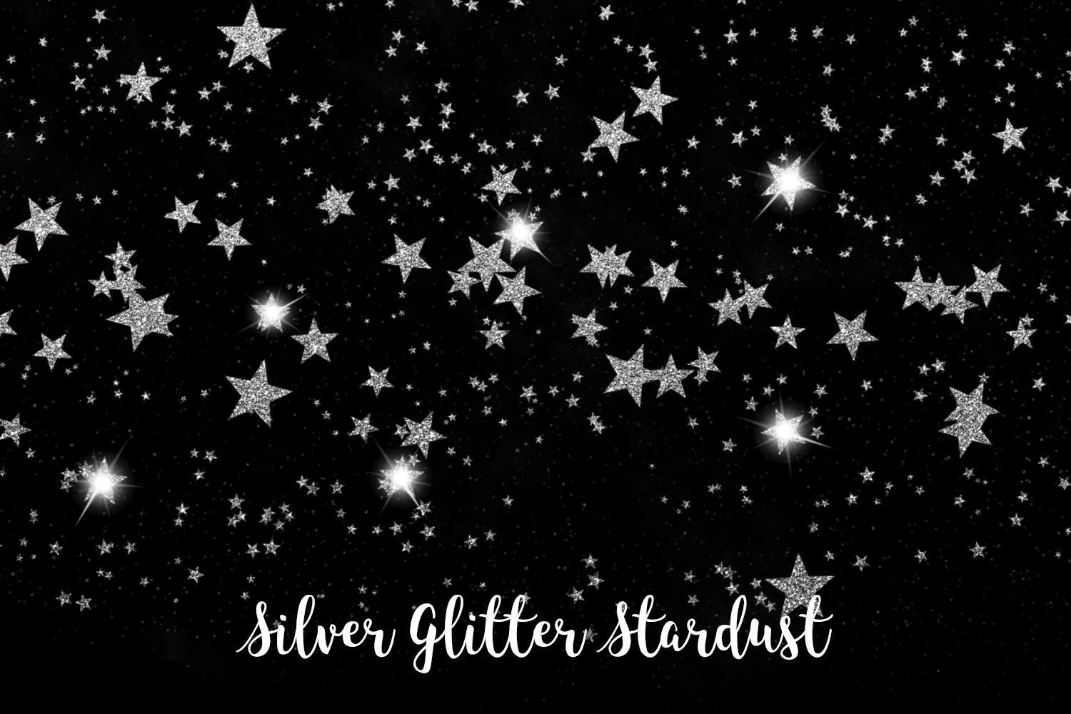 Silver Glitter Stardust, Transparent PNG example image 10