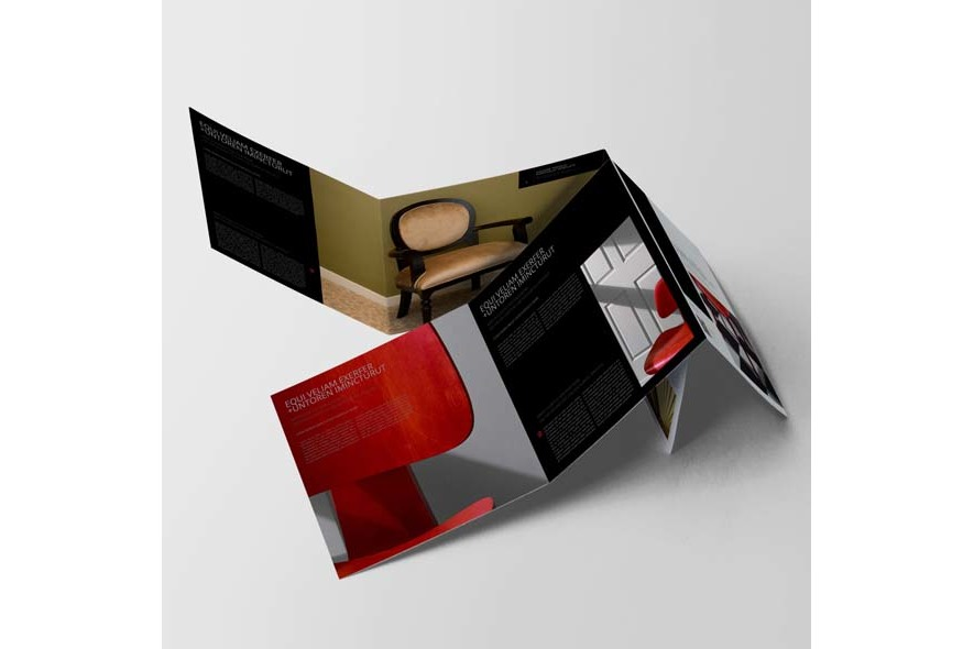 Square Trifold Portfolio Template example image 3