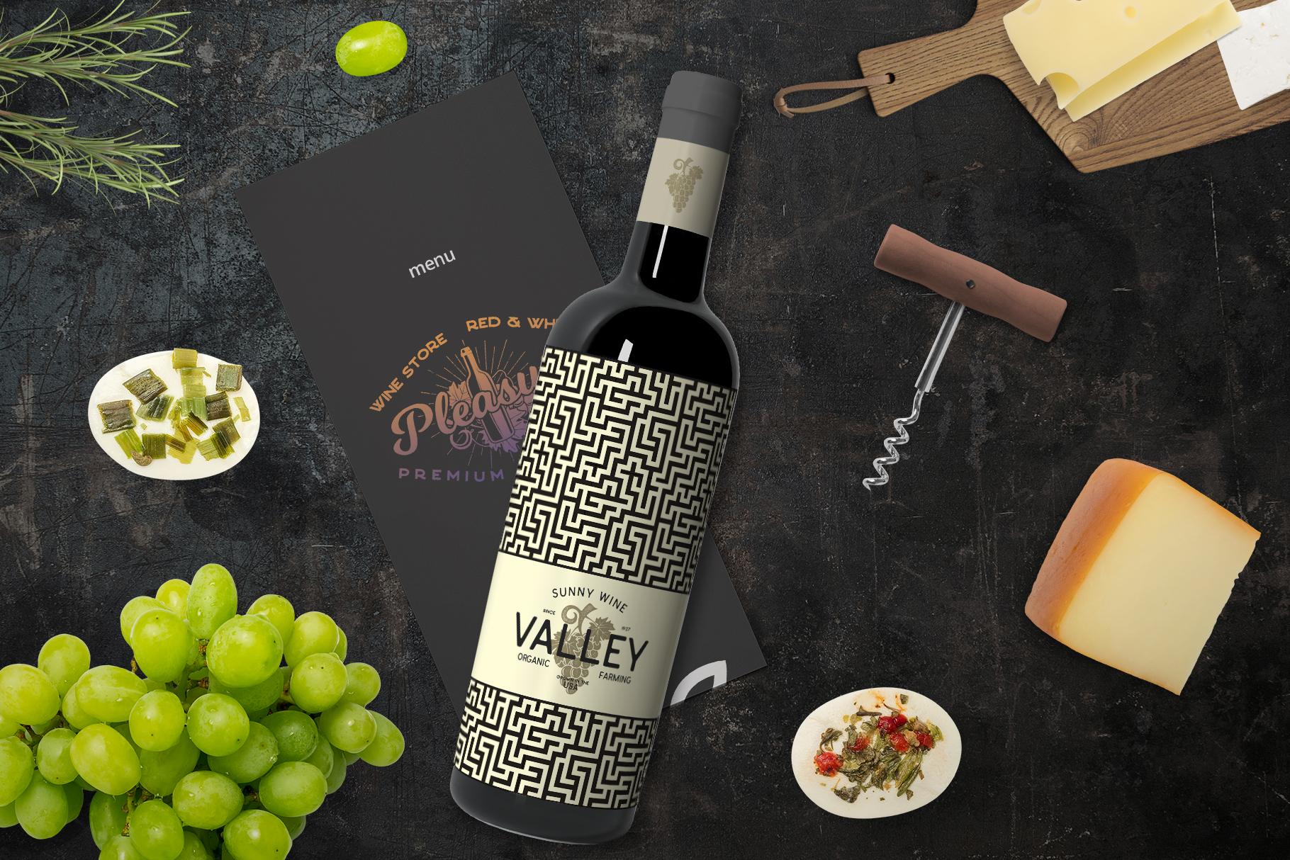Winery Logo Designs & Wine Elements example image 6