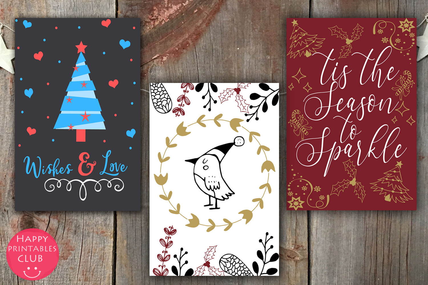 Christmas Cards-Gift Tags-Labels/Holiday Cards Tags Labels example image 3