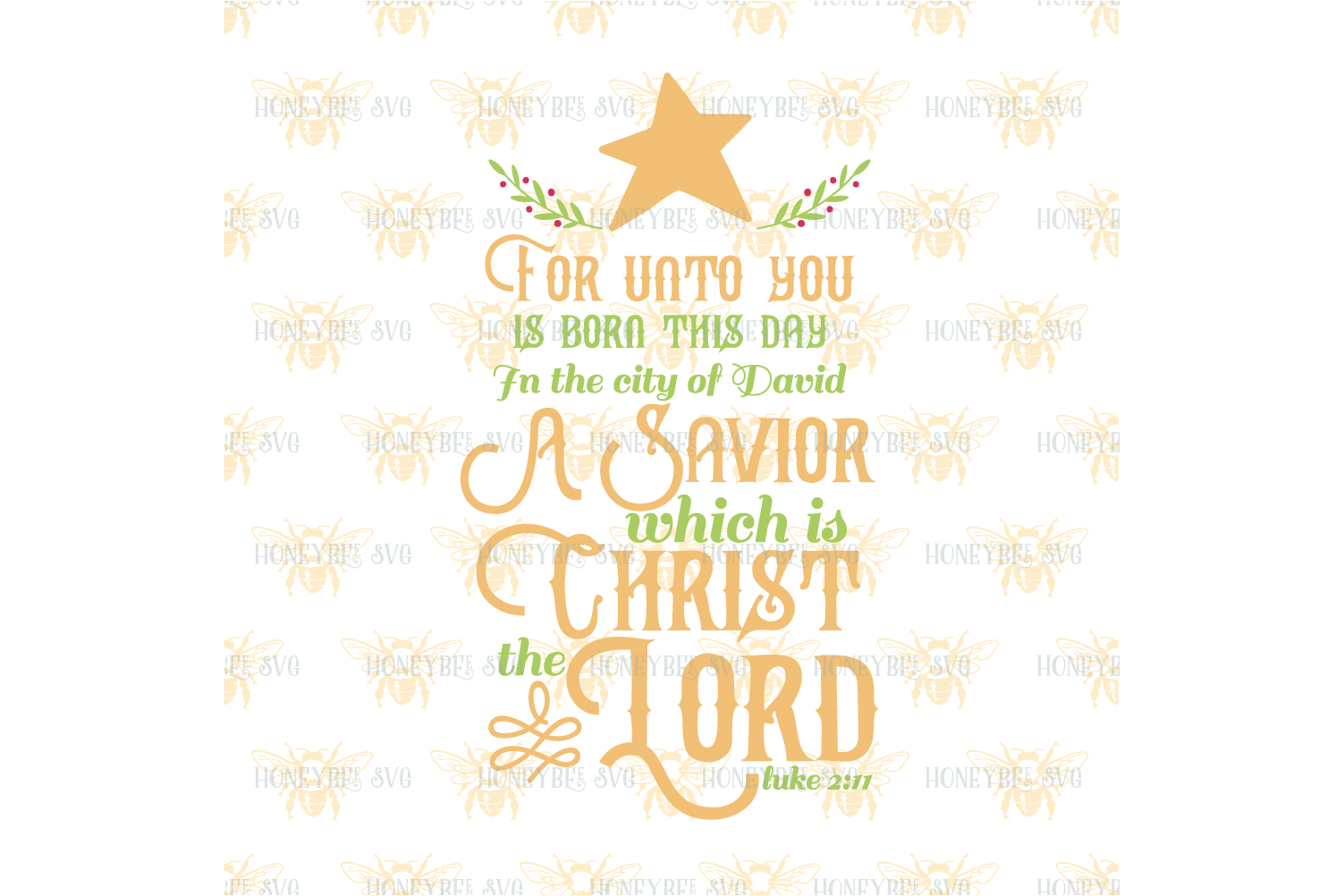For Unto You Is Born This Day svg example image 2
