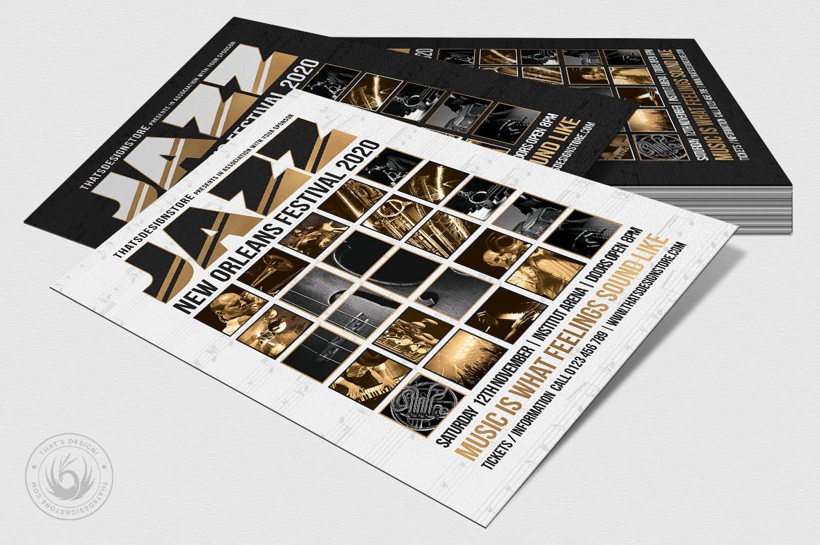 Jazz Festival Flyer Template V9 example image 4