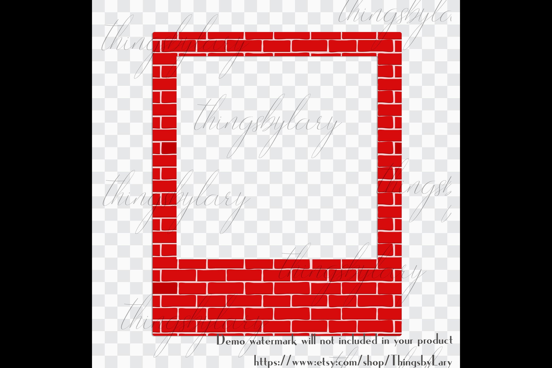 254 Brick Wall Polaroid Photo Booth Baby Shower Photo Frames example image 2